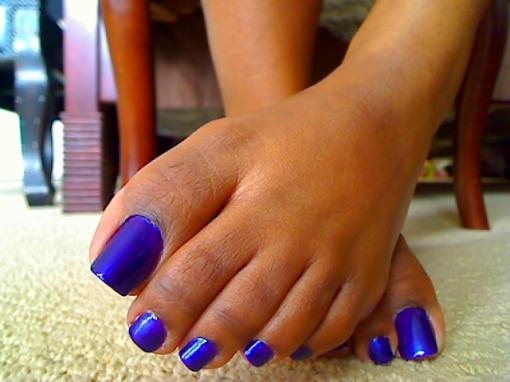 Sexy ebony foot fetish